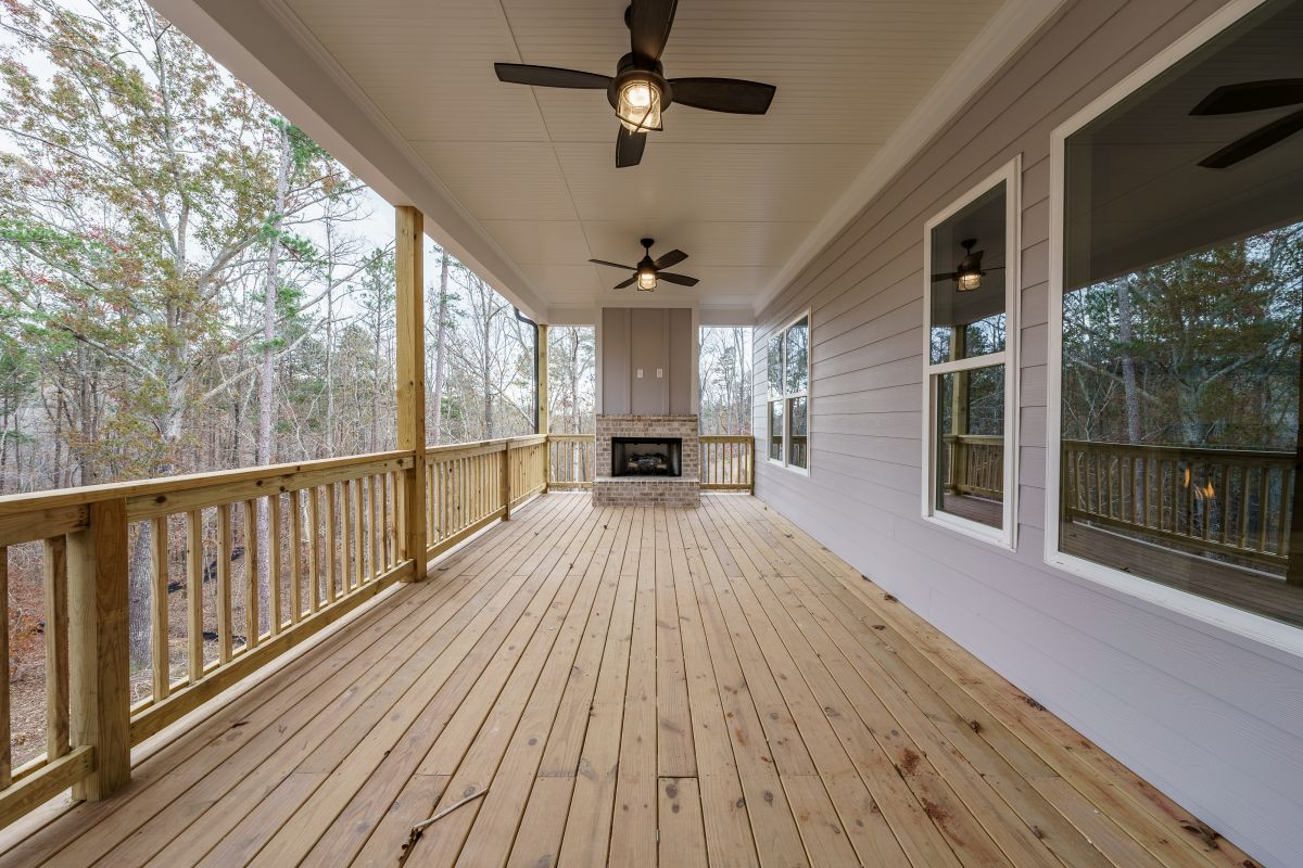 New Homes in Woodridge Estates Canton GA | Outdoor Fireplace | Loren Homes