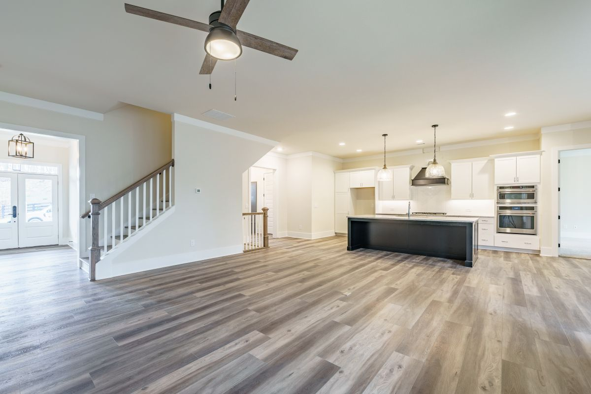 New Homes in Woodridge Estates Canton Ga | Open Living Room | Loren Homes