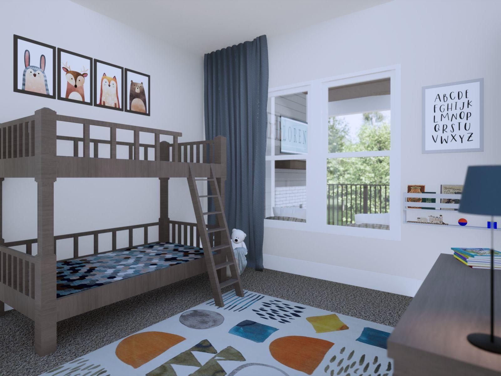Etowah Bedroom | Loren Homes | New Homes in Woodridge Estates Woodstock GA