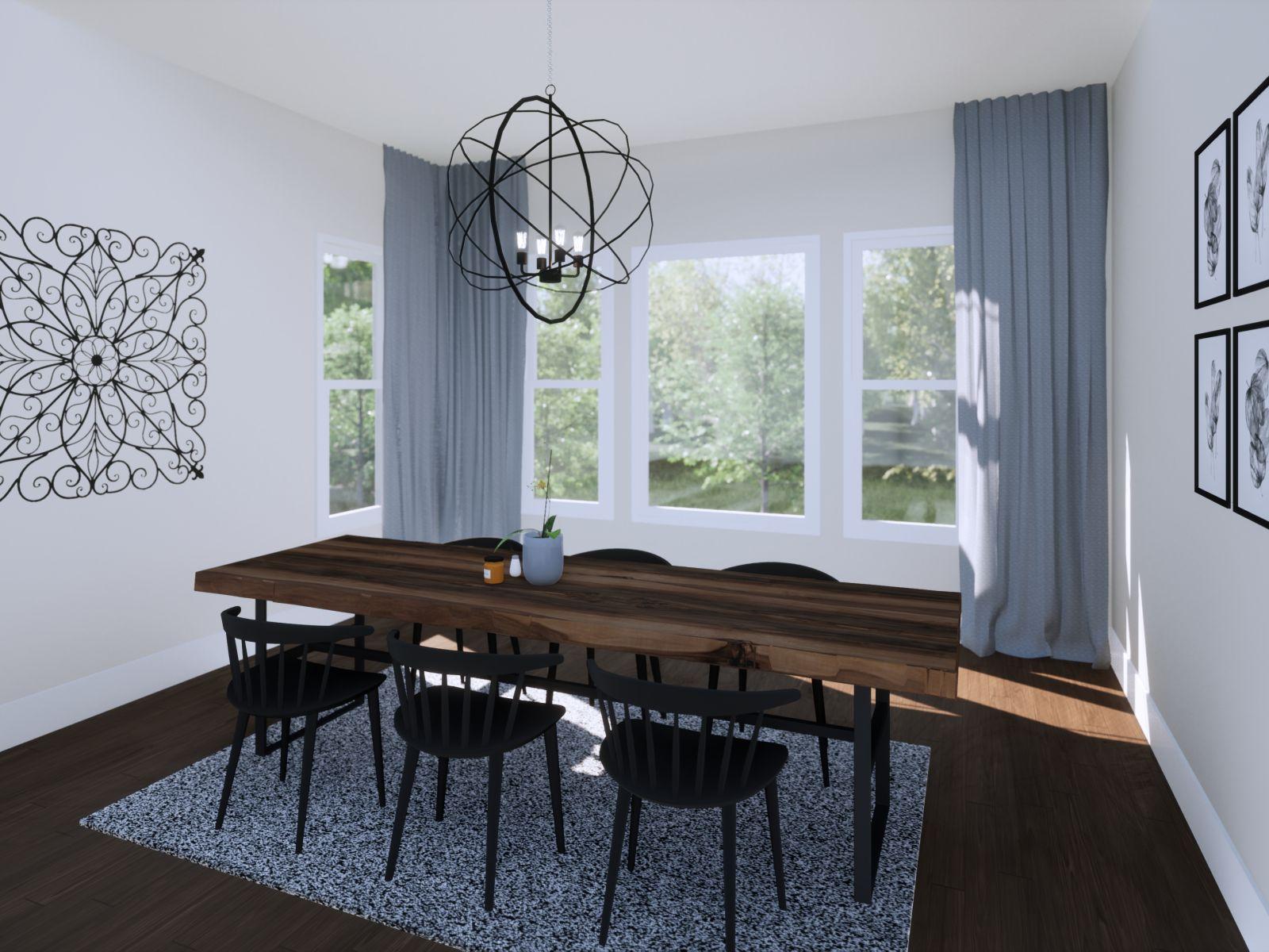 Etowah Dining Room | Loren Homes | New Homes in Woodridge Estates Woodstock GA