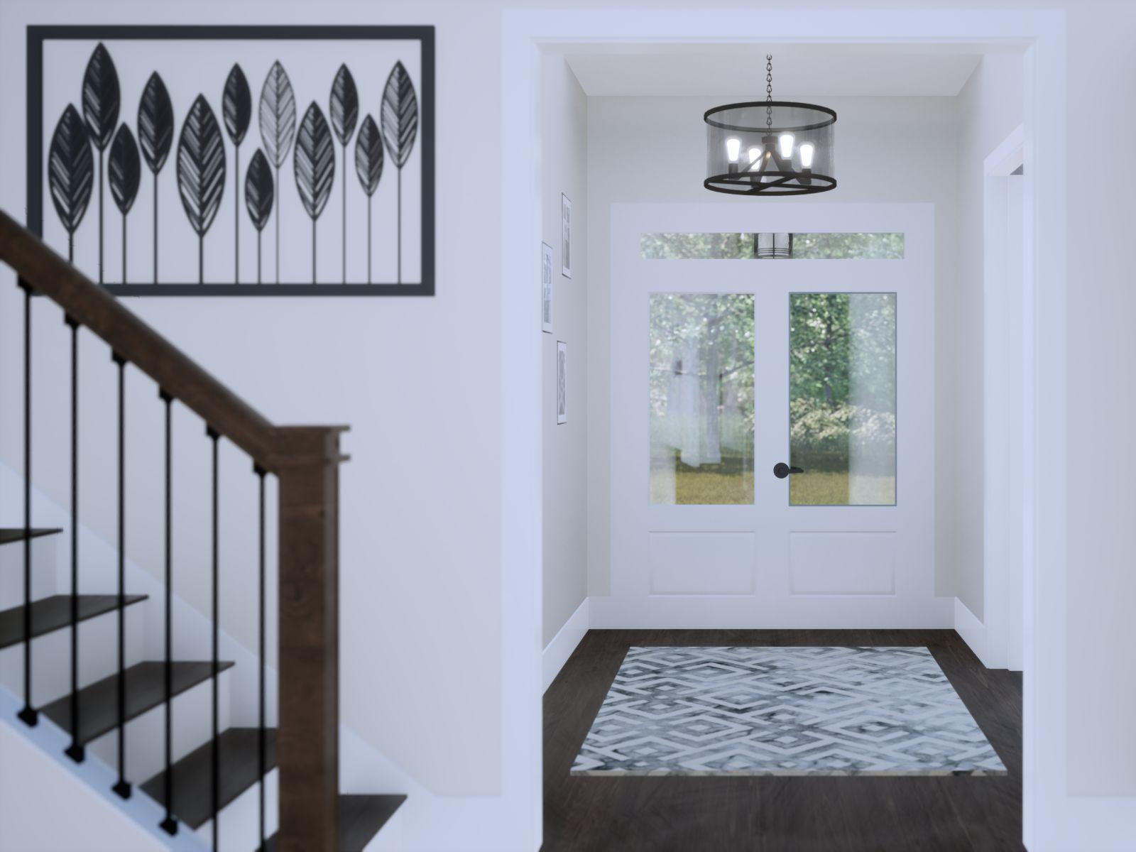 Etowah Foyer Entry | Loren Homes | New Homes in Woodridge Estates Woodstock GA