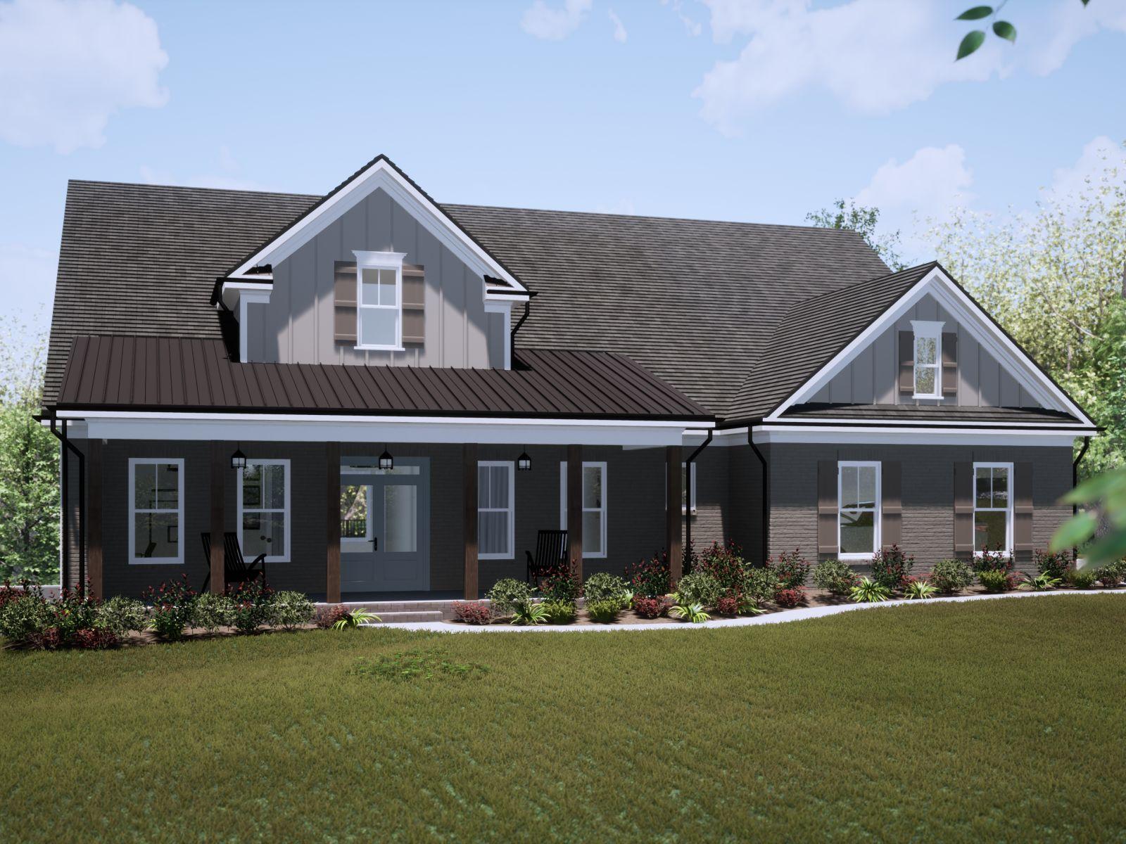 Etowah Front Exterior | Loren Homes | New Homes in Woodridge Estates Woodstock GA