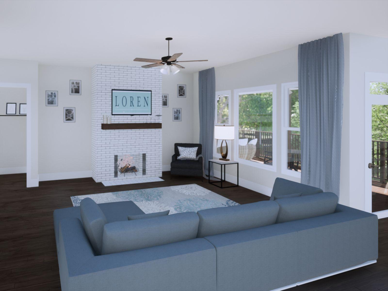 Etowah Great Room | Loren Homes | New Homes in Woodridge Estates Woodstock GA