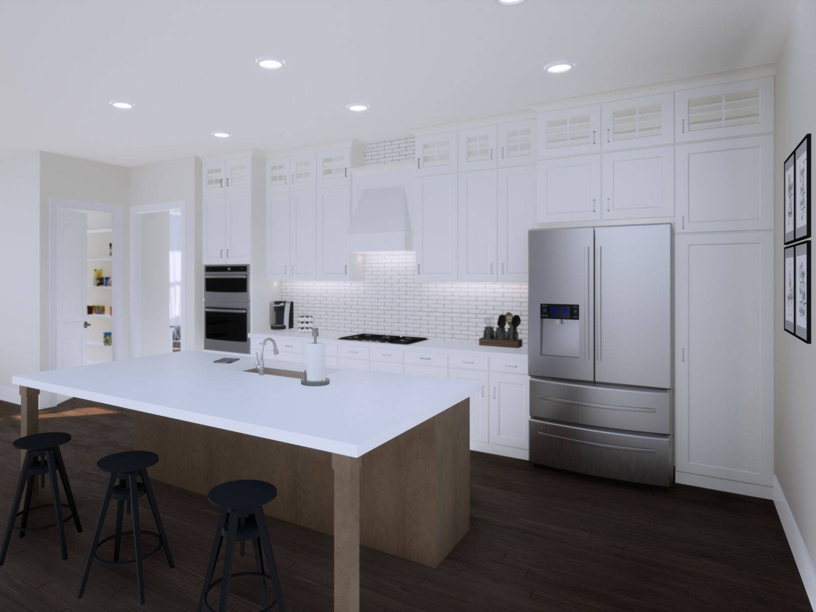 Etowah Kitchen | Loren Homes | New Homes in Woodridge Estates Woodstock GA