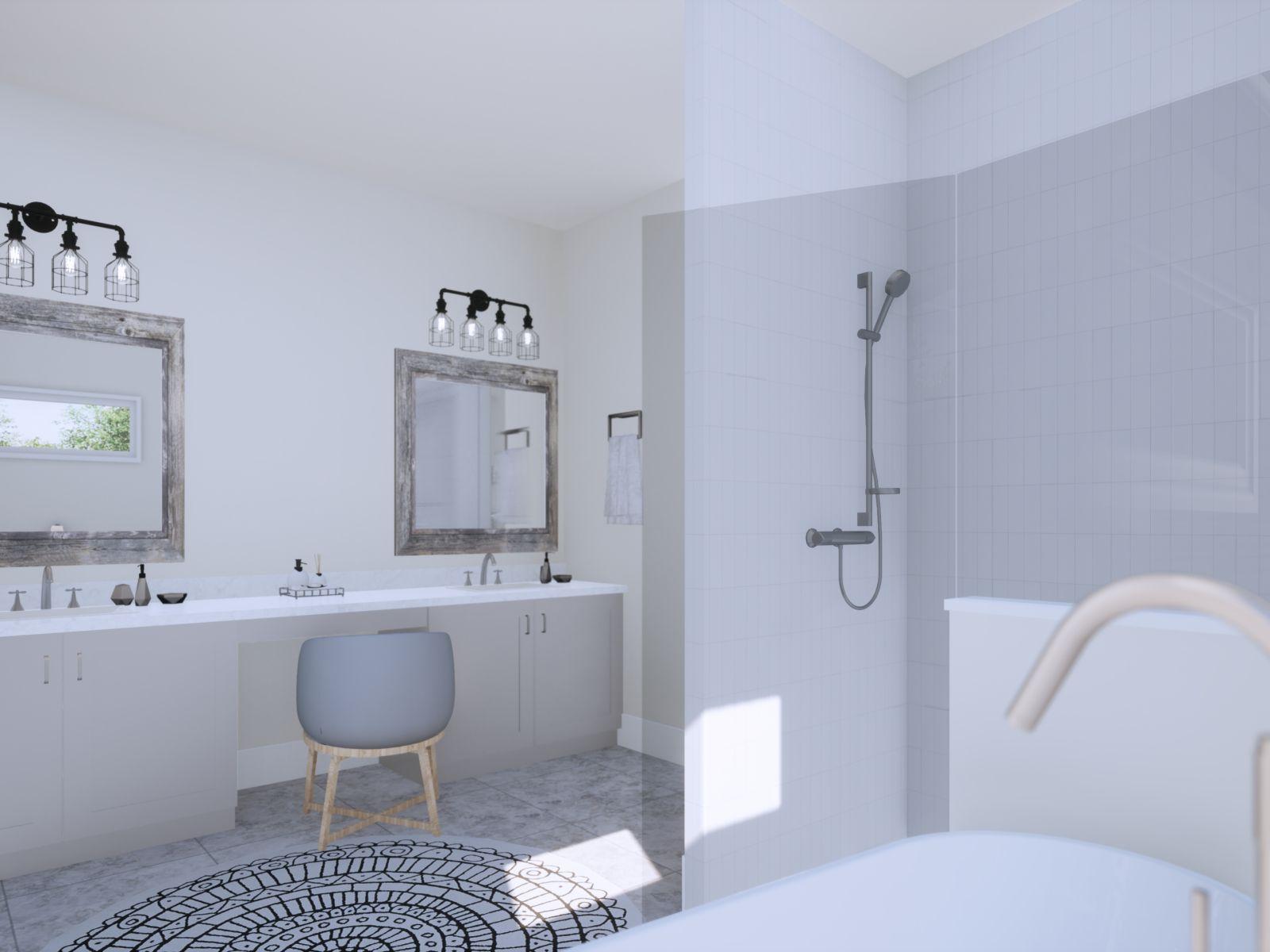 Etowah Owners Bath | Loren Homes | New Homes in Woodridge Estates Woodstock GA