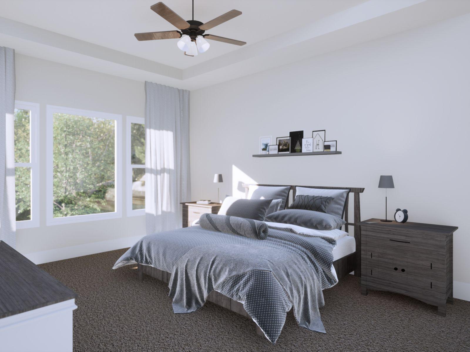 Etowah Owner's Suite | Loren Homes | New Homes in Woodridge Estates Woodstock GA