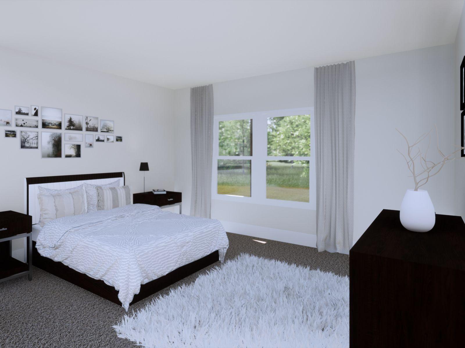 Etowah Guest Bedroom | Loren Homes | New Homes in Woodridge Estates Woodstock GA