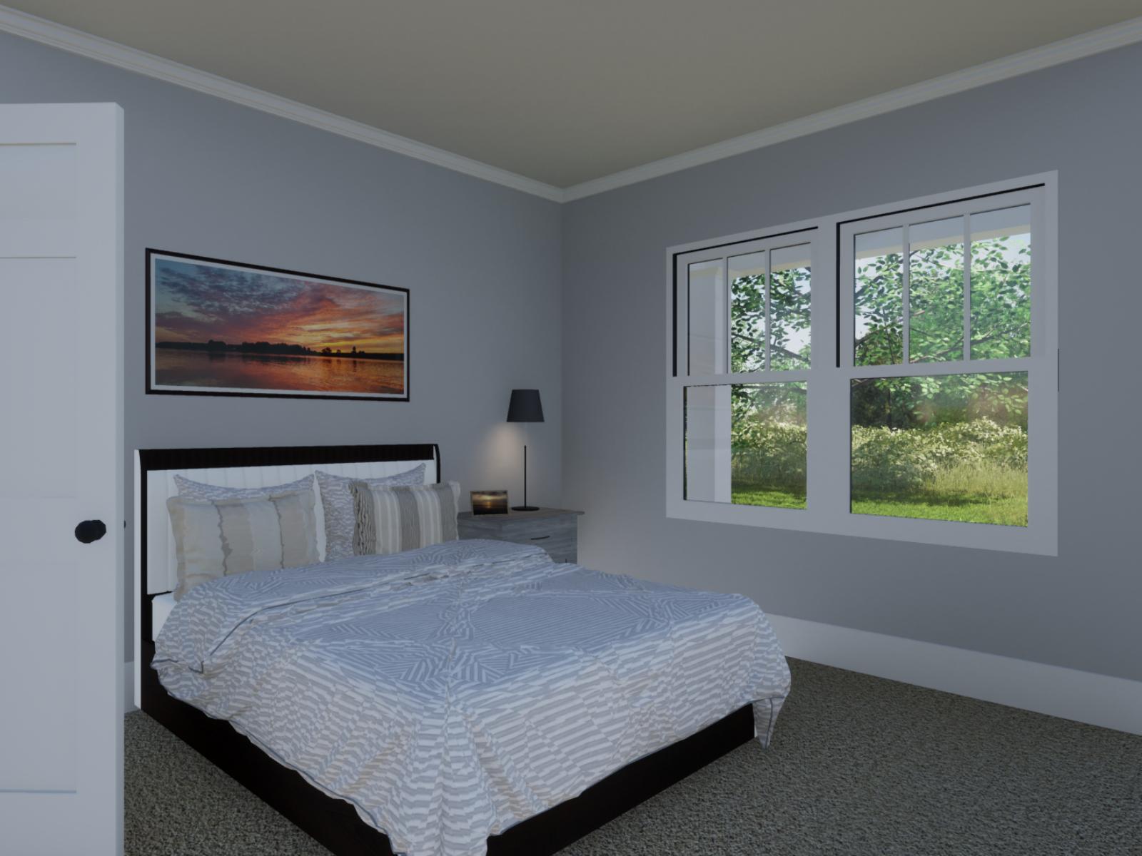Emerson Floorplan Bedroom | Loren Homes | New Homes in Great Sky Canton GA