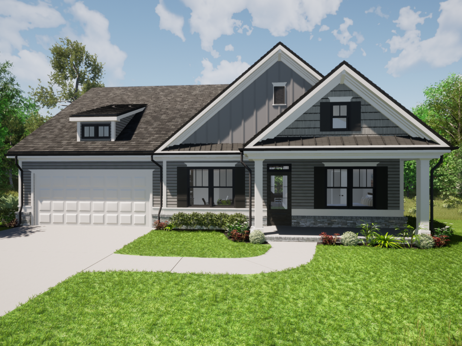 Emerson Floorplan Exterior | Loren Homes | New Homes in Great Sky Canton, GA