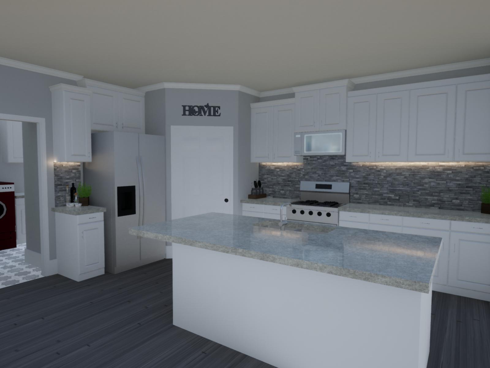 Emerson Floorplan Kitchen | Loren Homes | New Homes in Great Sky | Canton GA