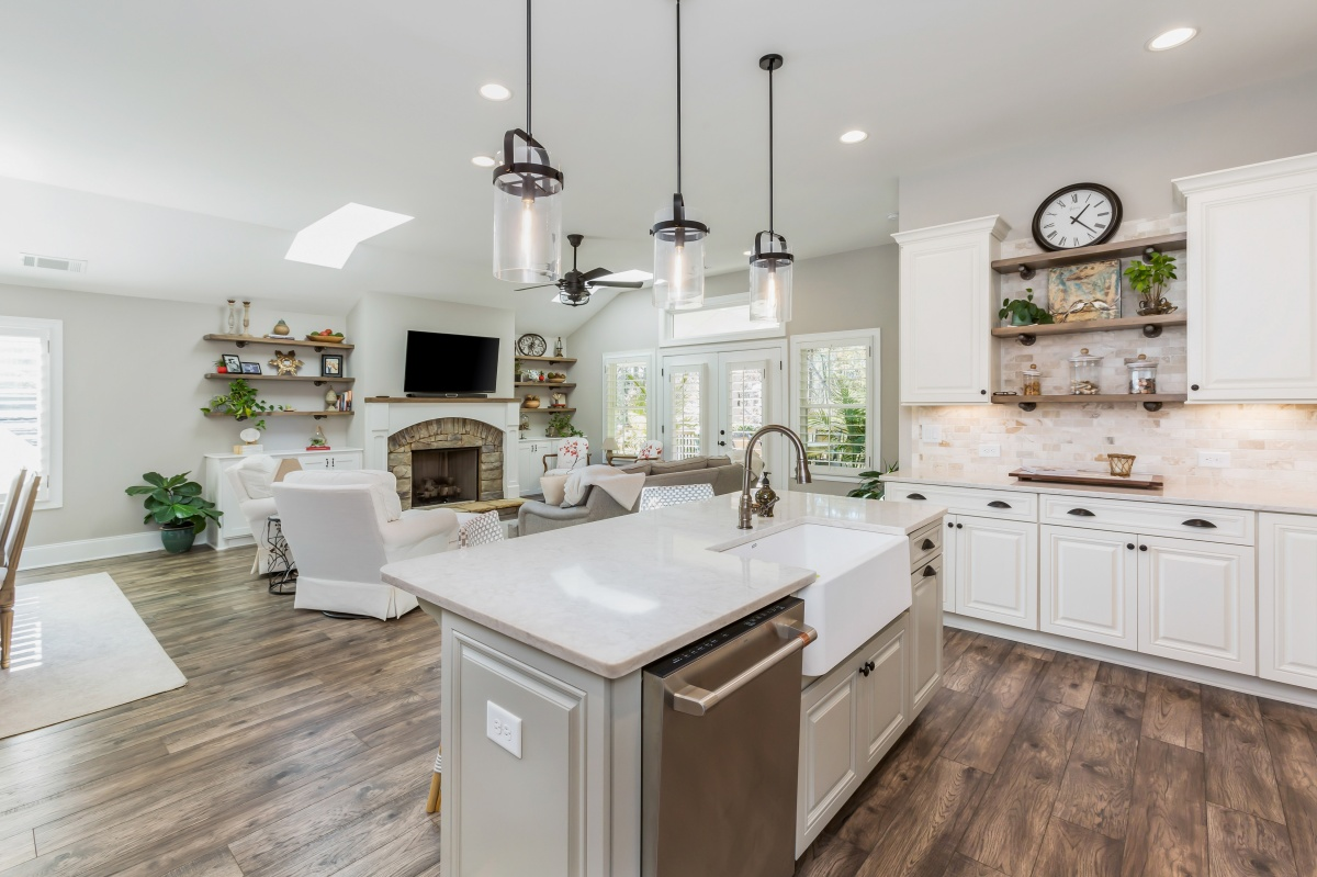 Loren Homes Loren Homes | Kitchen and Living Room Interior | New Homes in Atlanta GA